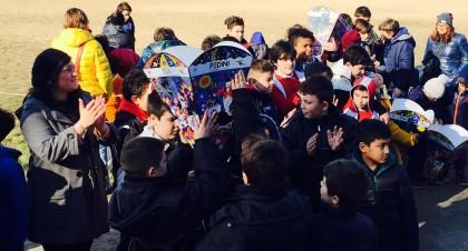 L'assessore Del Bianco e i bambini del Fano Rugby