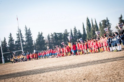 Carnevale fa rima con palla ovale: festa per 200 bambini grazie al Fano Rugby