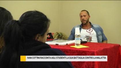 Ivan Cottini racconta agli studenti la sua battaglia contro la malattia – VIDEO