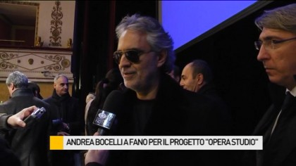 Andrea Bocelli a Fano per un progetto di studio dell'opera lirica – VIDEO
