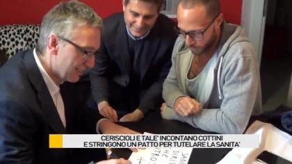 Ceriscioli e Talè incontrano Cottini e stringono un patto per tutelare la sanità – VIDEO