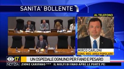 """Sanità, Carloni: """"Il Santa Croce non si tocca. Deve curare oltre 100mila persone"""" – VIDEO"""