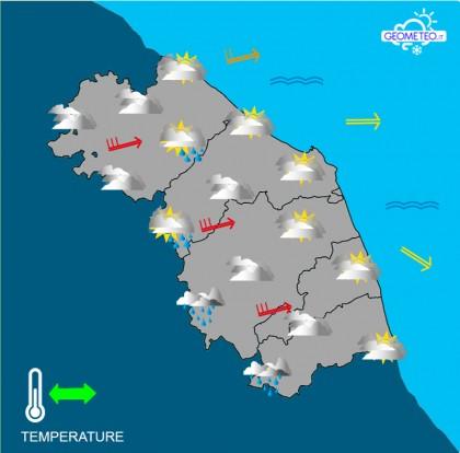 Maltempo: vento di tempesta in arrivo nelle Marche