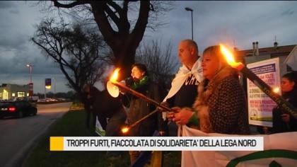 Troppi furti, fiaccolata di solidarietà della Lega Nord – VIDEO