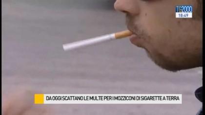 Dal 2 febbraio scattate le multe per i mozziconi di sigarette a terra – VIDEO