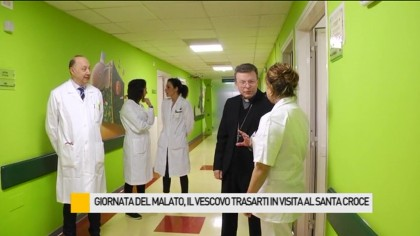 Giornata del malato, il Vescovo Trasarti in visita al Santa Croce – VIDEO