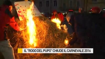 """Il """"Rogo del Pupo"""" ha chiuso l'edizione da record del Carnevale di Fano – VIDEO"""