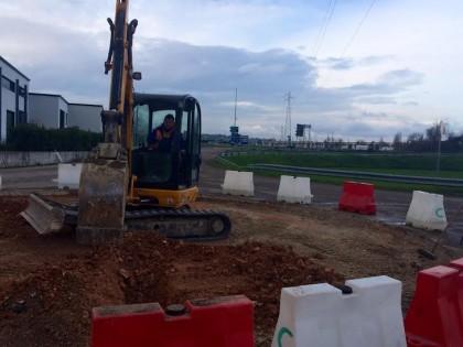 Cartoceto, lavori di asfaltatura e realizzazione di una nuova rotatoria