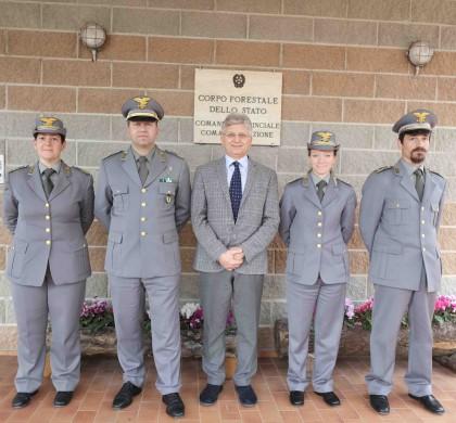 Corpo forestale, quattro nuovi Comandanti di Stazione