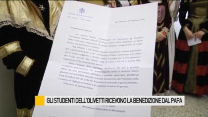 Ecco la lettera del Papa ricevuta dagli studenti dell'Olivetti – VIDEO