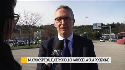 Nuovo ospedale, Ceriscioli chiarisce la sua posizione – VIDEO