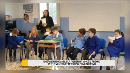 """Energia rinnovabile, la scuola """"Venerini"""" vince il primo premio per 'l'evento mediatico più comunicativo' – VIDEO"""