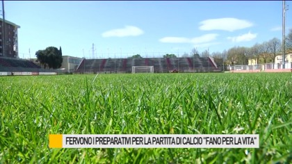 "Fervono i preparativi per la partita di calcio ""Fano per la Vita"" – VIDEO"
