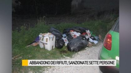 Abbandono dei rifiuti, sanzionate sette persone – VIDEO