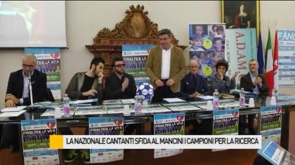 La Nazionale Cantanti scende allo stadio Mancini i Campioni per la Ricerca – VIDEO