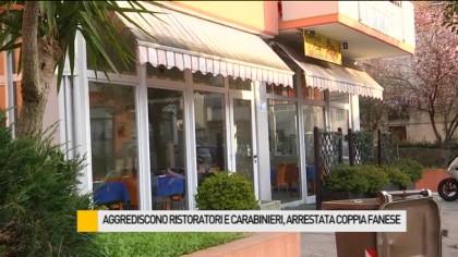 Aggrediscono due ristoratori e i carabinieri giunti in soccorso, arrestata coppia fanese – VIDEO
