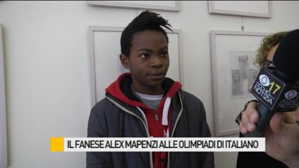 Il Fanese Alex Mapensi alle Olimpiadi d'Italiano – VIDEO