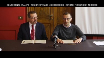 Conferenza stampa integrale su accordo Pesaro- Mombaroccio – VIDEO