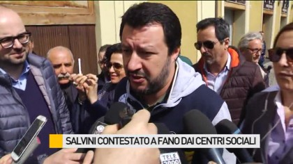 Salvini a Fano contestato da centri sociali – VIDEO
