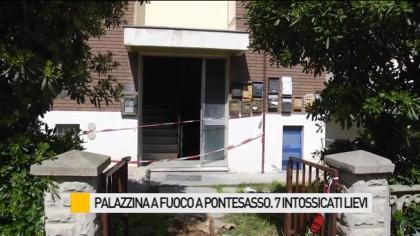 Palazzina a fuoco a Pontesasso, 7 intossicati lievi – VIDEO