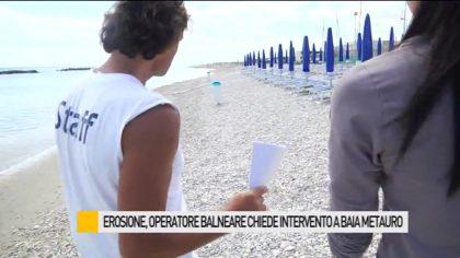 Erosione a Baia Metauro, operatore balneare chiede potenziamento delle scogliere – VIDEO