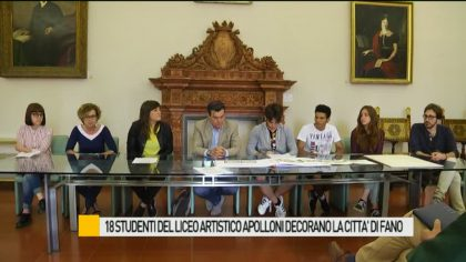18 studenti del Liceo Artistico decorano la città di Fano – VIDEO