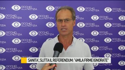 "Sanità, slitta il referendum: ""Ignorate 4mila firme"" – VIDEO"