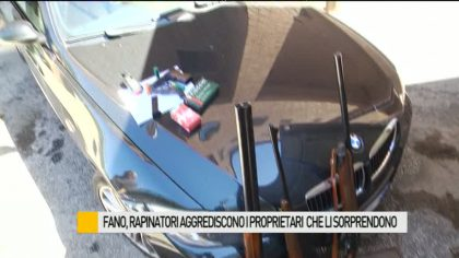 Rapina violenta a Fano, proprietari aggrediti dai banditi – VIDEO