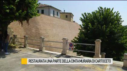 Restaurata una parte della cinta muraria di Cartoceto – VIDEO
