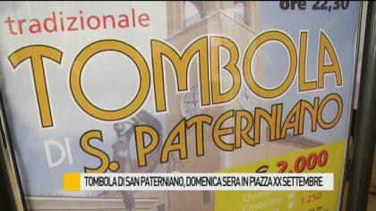 Tombola di San Paterniano, domenica sera in piazza XX Settembre – VIDEO
