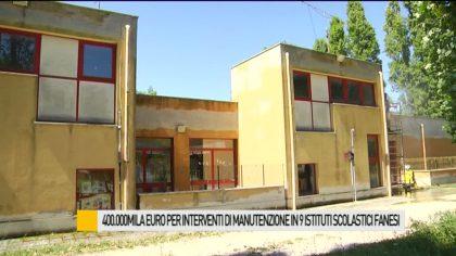 400mila euro per interventi di manutenzione in 9 isitituti scolastici fanesi – VIDEO
