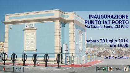 Sabato inaugura il punto IAT al Porto di Fano