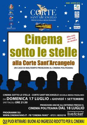 Torna a Fano il cinema all'aperto a Fano. Ecco il programma