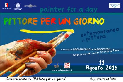 """Fano diventa un'opera d'arte grazie al concorso  """"Pittore per un giorno"""""""