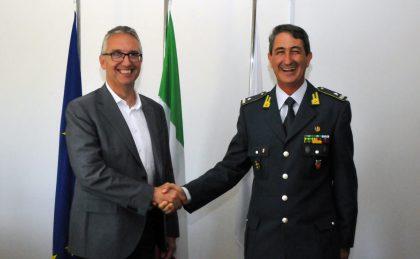 Il presidente Ceriscioli riceve il nuovo comandante regionale della Guardia di Finanza
