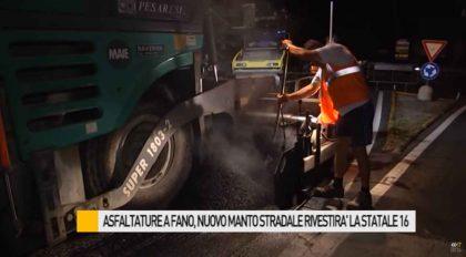Asfaltature a Fano, nuovo manto stradale rivestirà la statale 16 – VIDEO