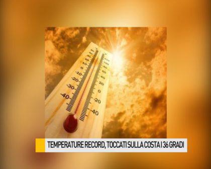 Temperature record, toccati sulla costa i 36 gradi