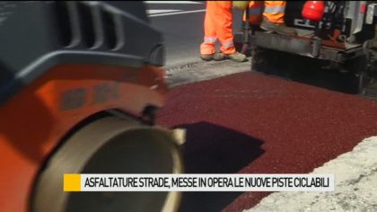 Asfaltature strade, messe in opera le nuove piste ciclabili – VIDEO