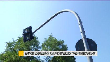 """Semafori e cartellonistica, Fanesi rassicura: """"Presto interverremo"""" – VIDEO"""