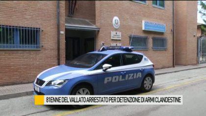 Vallato di Fano, 81enne arrestato per detenzione di armi – VIDEO