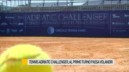Tennis Adriatic Challenger, al primo turno passa Volandri – VIDEO
