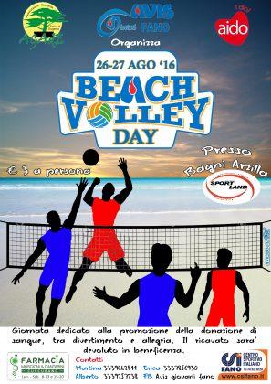 Avis di Fano: Venerdì  26 agosto partirà  alle ore 18, 00 la Beach Volley Day