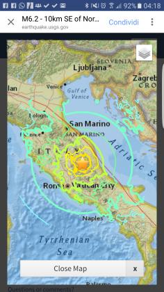 Forte scossa di terremoto nella notte. Ci sono vittime