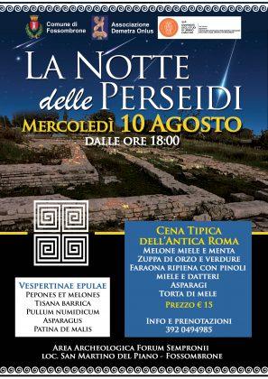 Parco Archeologico di Forum Sempronii esibizione della Pandolfaccia