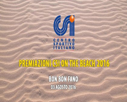 Premiazioni CSI On the Beach 2016