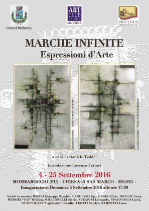 """Mombaroccio, Domenica 4 sttembre inaugurazione mostra """"Marche Infinite"""""""