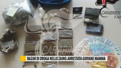 Fano, Carabinieri arrestano una giovane mamma incensurata trovata con 180 grammi di cocaina  – VIDEO