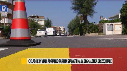 Ciclabile in viale Adriatico, partita la segnaletica orizzontale – VIDEO