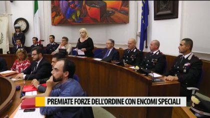 Premiate Forze dell'Ordine con encomi speciali – VIDEO