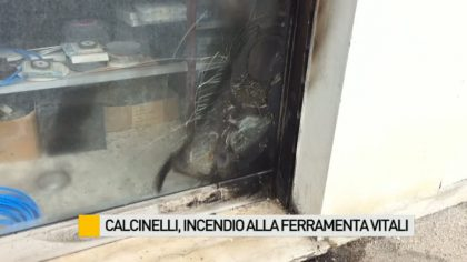 Incendio in una ferramenta di Calcinelli  – VIDEO